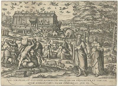 Noahs Ark, Attributed To Symon Novelanus Art Print by Symon Novelanus