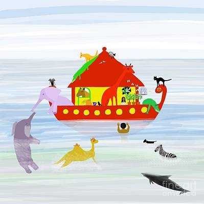 Digital Art - Noah's Ark by Barbara Moignard