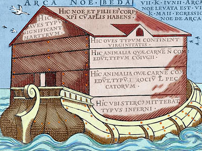 Bible Photograph - Noah's Ark, From The Book 'de Linguis by Prisma Archivo