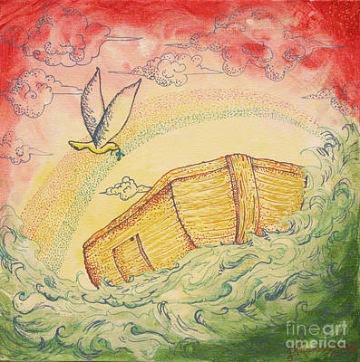 Noah's Ark Original by Jennifer Lueders