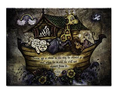 Noah's Ark Art Print by La Rae  Roberts