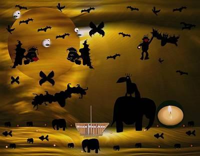 Ape Mixed Media - Noak The Ark by Pepita Selles