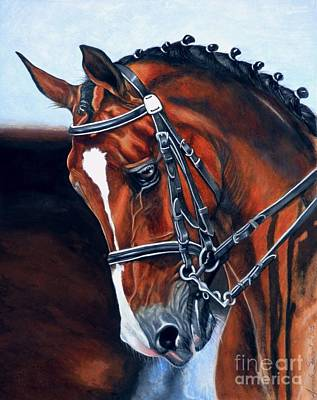 Watercolor. Equine. Bridle Painting - Nobility by Amanda Hukill