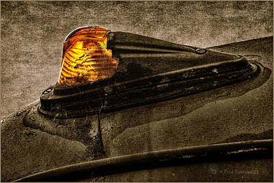 Photograph - Nobody's Truck Running Light by Fred Denner
