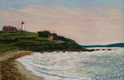 Pastel - Nobska Lighthouse by Joan Swanson