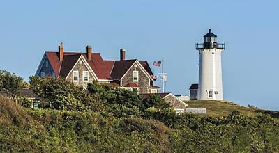 Nobska Lighthouse Woods Hole Cape Cod Ma Art Print by Marianne Campolongo