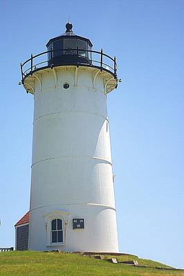 Art Print featuring the photograph Nobska Point Lighthouse Ma by Suzanne Powers