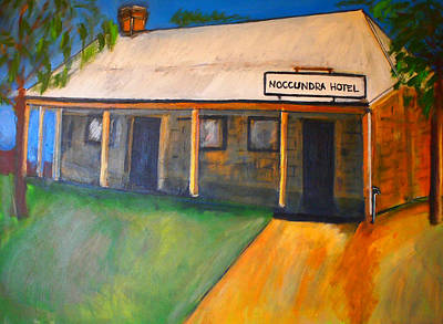 Indigenous Australians Painting - Noccundra Hotel Queensland by Penny Arnold