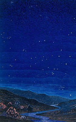 Constellations Painting - Nocturnal Landscape by Francois-Louis Schmied