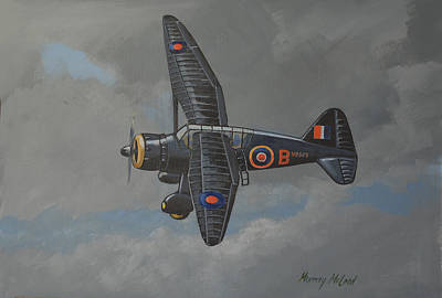 Print featuring the painting Nocturnal Lysander by Murray McLeod
