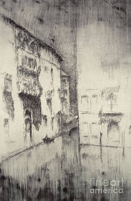 On Paper Painting - Nocturne Palaces by James Abbott McNeill Whistler