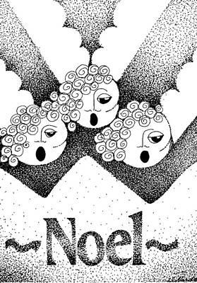 Noel Angels Art Print by Joy Bradley