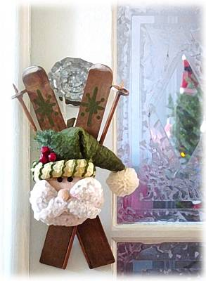 Mixed Media - Noel Arrive by Therese Rouleau