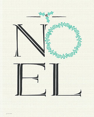 Holiday Painting - Noel by Jo Moulton