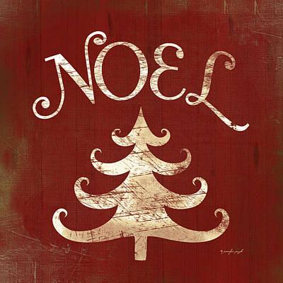 Holiday Painting - Noel Tree by Jennifer Pugh