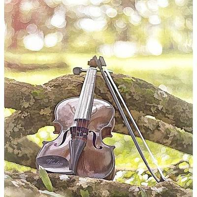 Violin Wall Art - Photograph - #nofilter #aisphotography #webstagram by Isma El
