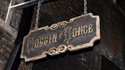Bonce Photograph - Noggin And Bonce Sign  by David Lee Thompson