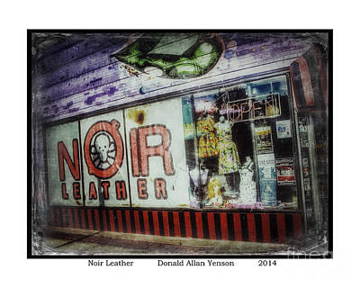 Travel Rights Managed Images - Noir Leather Royalty-Free Image by Donald Yenson