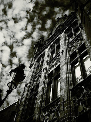 Noir Moment In Brugges Art Print by Connie Handscomb