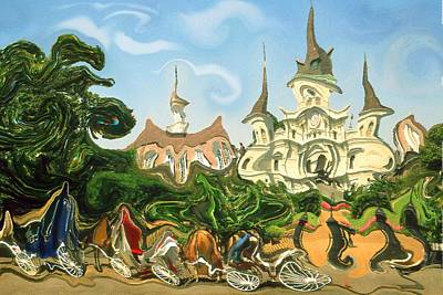 Painting - New Orleans Music - Modern Art by Art America Gallery Peter Potter