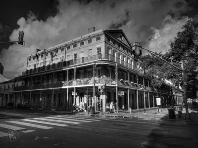 Photograph - Nola - French Quarter 001 Bw by Lance Vaughn
