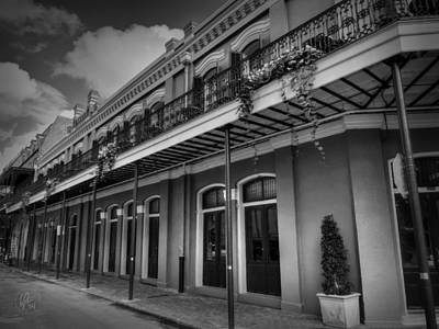 Photograph - Nola - French Quarter 004 Bw by Lance Vaughn