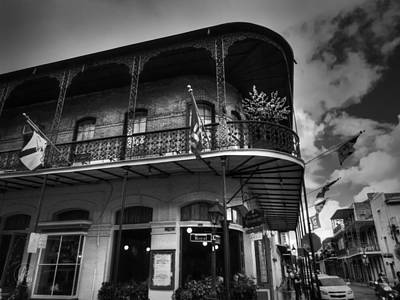 Louisiana State University Photograph - Nola - French Quarter 005 Bw by Lance Vaughn