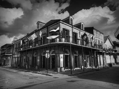 Photograph - Nola - French Quarter 006 Bw by Lance Vaughn