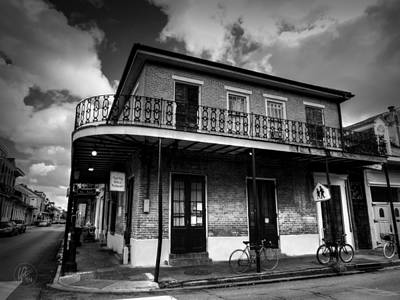 Photograph - Nola - French Quarter 007 Bw by Lance Vaughn