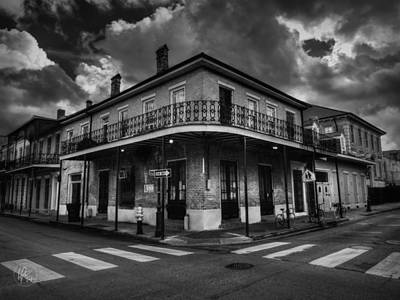 Photograph - Nola - French Quarter 008 Bw by Lance Vaughn