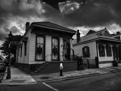 Photograph - Nola - French Quarter 011 Bw by Lance Vaughn