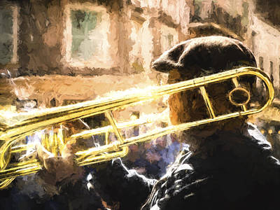 Music Royalty-Free and Rights-Managed Images - NOLA Jazz Trombone by David Kay