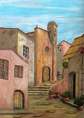 Stone Buildings Painting - Nola by Pamela Allegretto