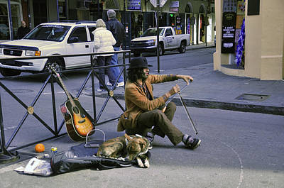 Photograph - Nola Pet And His Musician by Helen Haw