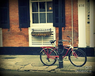 Photograph - Nola Red Bike by Valerie Reeves
