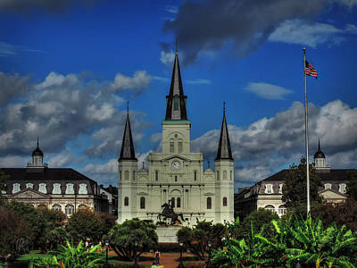 Photograph - Nola - St. Louis Cathedral 001 by Lance Vaughn