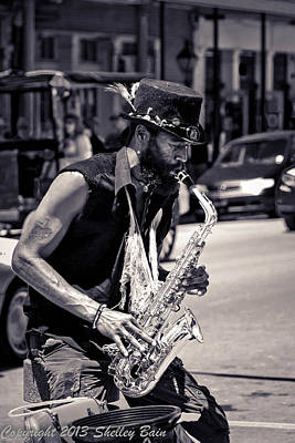 Photograph - Nola Street Music by Shelley Bain