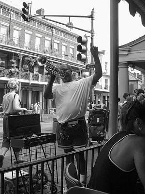 Photograph - Nola Street Musician by John Schneider