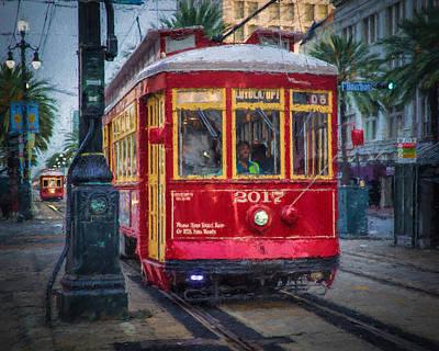 New Orleans Streetcar  Art Print