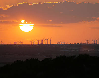 Nolan County Sunset Print by Miriam Tiritilli