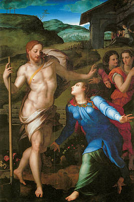 Resurrection Of Jesus Christ Painting - Noli Me Tangere by Agnolo Bronzino