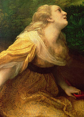 Mary Magdalene Photograph - Noli Me Tangere, C.1534 Oil On Canvas Detail Of 38614 by Correggio