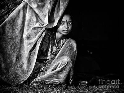 Nomadic South Indian Girl  Art Print by Tim Gainey