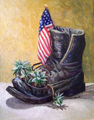 Art Print featuring the painting Non-combat Boot by Laura Aceto