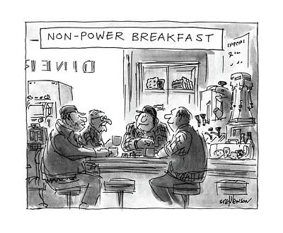 Breakfast Drawing - Non-power Breakfast by James Stevenson