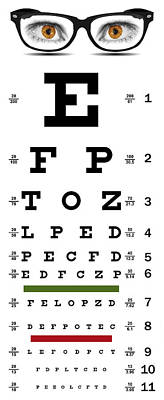 Eye Chart Digital Art - Non-traditional Eye Chart by Daniel Hagerman