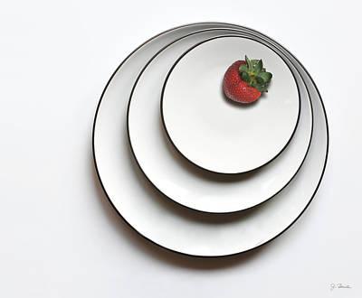 Photograph - Nonconcentric Strawberry by Joe Bonita