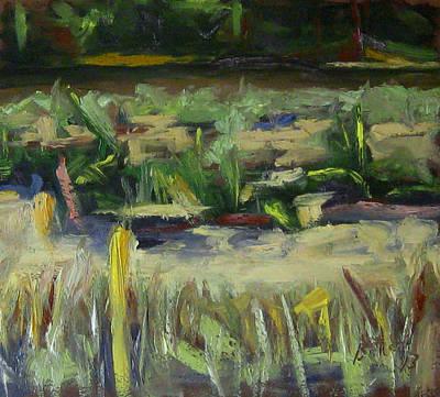 Oil Painting - Nong Kieu River Bank by Michael Britton