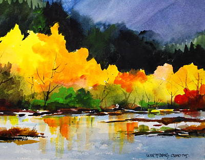 Painting - Nooksack River In Autumn by Wilfred McOstrich