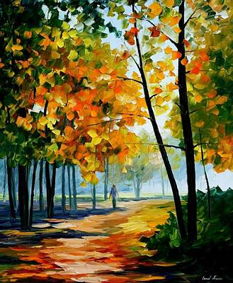 Noon In The Forest - Palette Knife Oil Painting On Canvas By Leonid Afremov Original